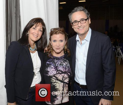 Susan Lipson, Carrie Fisher and David Lipson