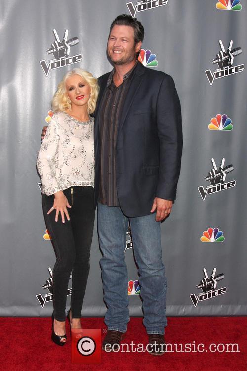 Christina Aguilera and Blake Shelton