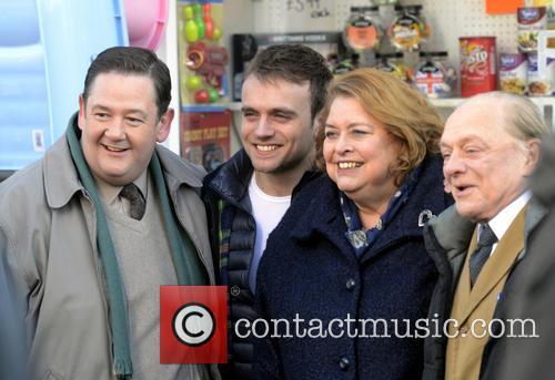 Johnny Vegas, James Baxter, Lynda Barron and David Jason