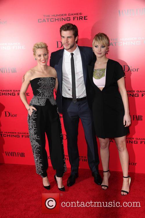 Elizabeth Banks, Liam Hemsworth and Jennifer Lawrence