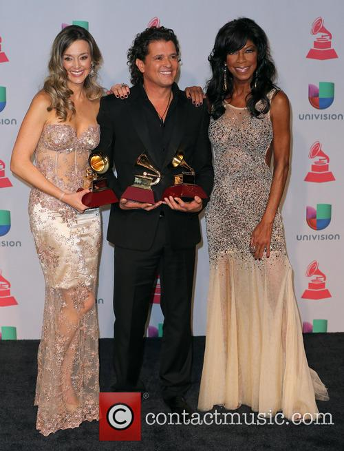Claudia Elena Vasquez, Carlos Vives and Natalie Cole