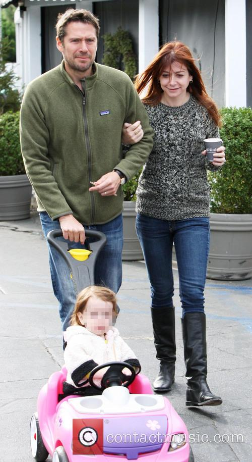 Alyson Hannigan, Alexis Denisof and Keeva Jane Denisof