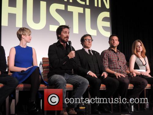 Jennifer Lawrence, Christian Bale, David O. Russell, Bradley Cooper and Amy Adams
