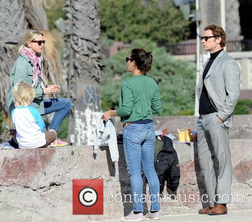 Naomi Watts, Liev Schreiber, Alexander and Samuel 2