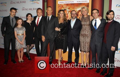 Colin Farrell, Annie Rose Buckley, Bradley Whitford, Tom Hanks, Rita Wilson, Paul Giamatti, Emma Thompson, B.j. Novak and Jason Schwartzman 3