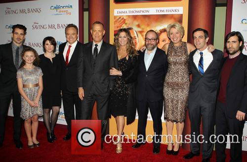 Colin Farrell, Annie Rose Buckley, Bradley Whitford, Tom Hanks, Rita Wilson, Paul Giamatti, Emma Thompson, B.j. Novak and Jason Schwartzman 5