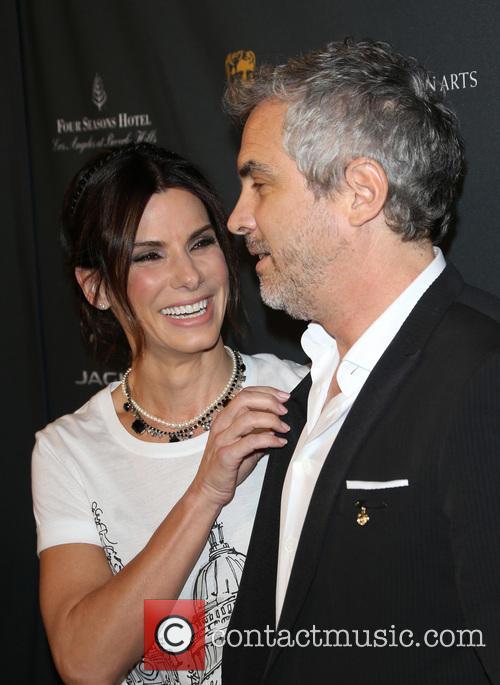 Sandra Bullock and Alfonso Cuaron