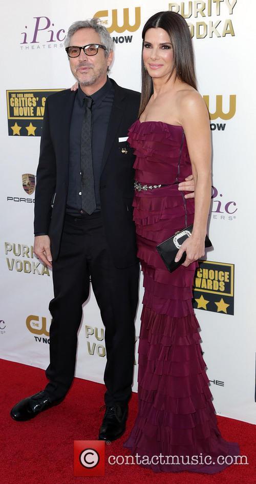 Alfonso Cuaron and Sandra Bullock