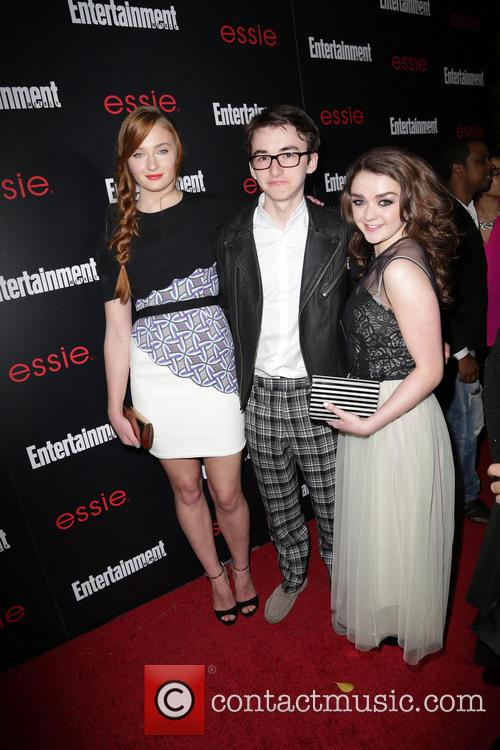 Sophie Turner, Isaac Hempstead-wright and Maisie Williams 5