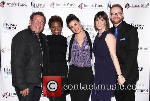 Michael Greif, Lachanze, Idina Menzel, Julia Murney and David Alpert