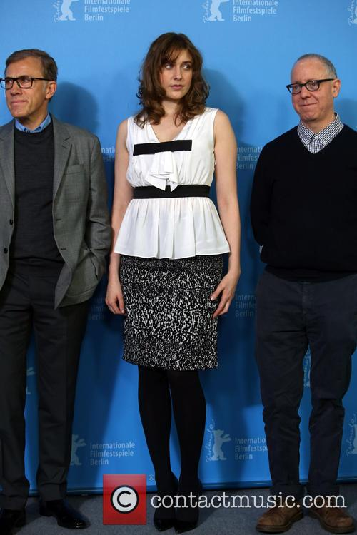 Christoph Waltz, Greta Gerwig and James Schamus
