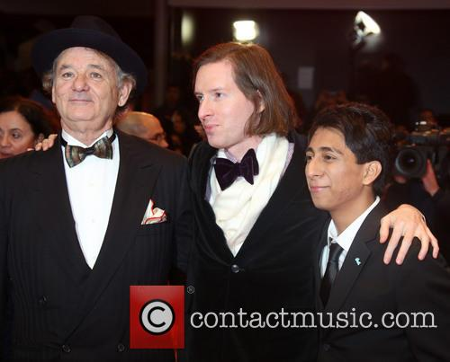 Bill Murray, Tony Revolori (r), Wes Anderson and Berlin