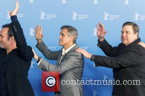 Jean Dujardin, George Clooney and John Goodman 2