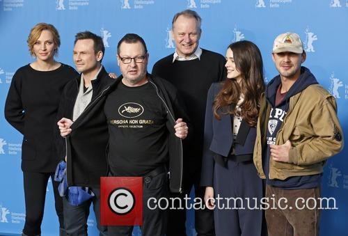 Uma Thurman, Christian Slater, Lars Von Trier, Stellan Skarsgard, Stacy Martin and Shia Labeouf 11