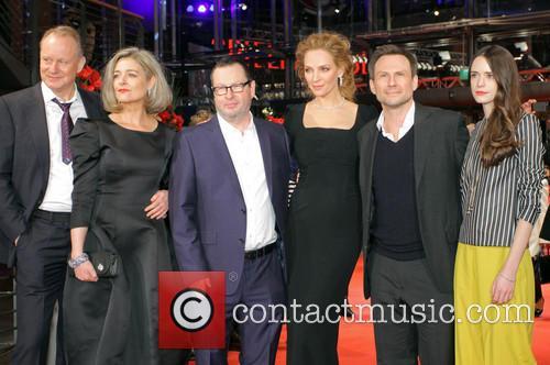 Stellan Skarsgard, Bente Fröge, Lars Von Trier, Uma Thurman, Christian Slater and Stacy Martin 5