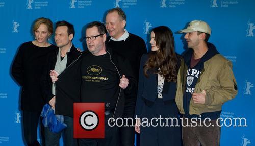 Lars Von Trier, Uma Thurman, Stacey Martin, Stellan Skarsgard, Christian Slater and Shia Labeouf 5