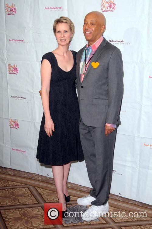 Cynthia Nixon and Russell Simmons 3