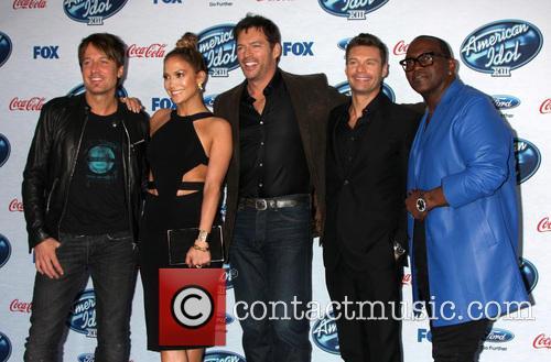 Keith Urban, Jennifer Lopez, Harry Connick Jr, Ryan Seacrest and Randy Jackson