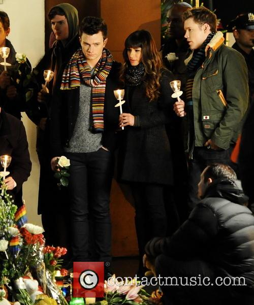 Lea Michele, Chris Colfer and Chord Overstreet 2