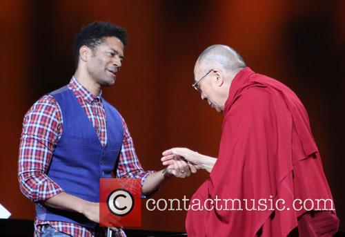 Eric Benet and His Holiness The 14th Dalai Lama
