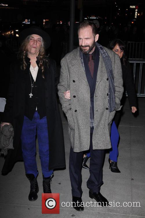 Patti Smith and Ralph Fiennes