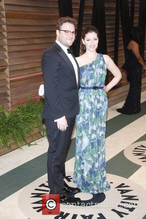 Actors Seth Rogen (l) and Lauren Miller 10