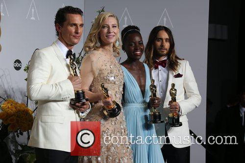 Matthew Mcconaughey (l-r), Cate Blanchett, Lupita Nyong'o and Ja 2