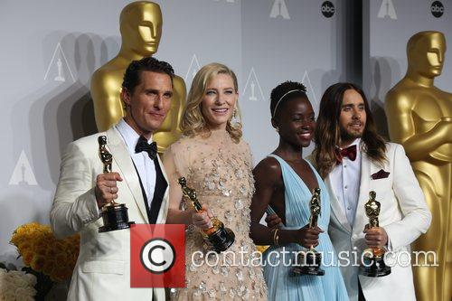 Matthew Mcconaughey (l-r), Cate Blanchett, Lupita Nyong'o and Ja 3