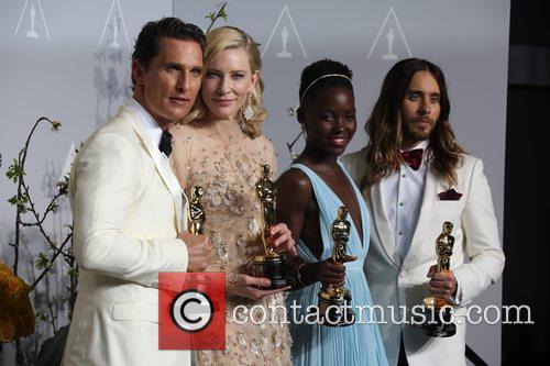 Matthew Mcconaughey (l-r), Cate Blanchett, Lupita Nyong'o and Ja 1