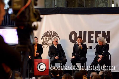 Roger Taylor, Adam Lambert and Brian May 4