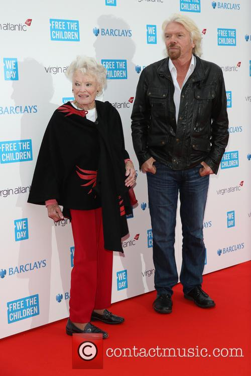 Eve Huntley Flindt and Richard Branson