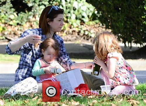 Alyson Hannigan, Satyana Denisof and Keeva Denisof