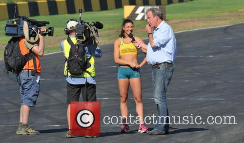 Jeremy Clarkson and Michelle Jenneke