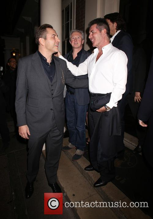 Louis Walsh, David Walliams and Simon Cowell 1