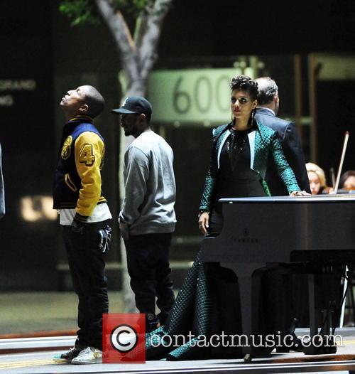 Alicia Keys, Pharrell Williams and Kendrick Lamar 2