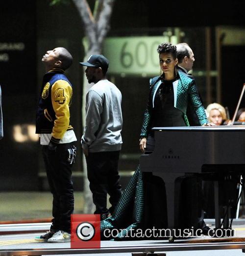 Alicia Keys, Pharrell Williams and Kendrick Lamar 3