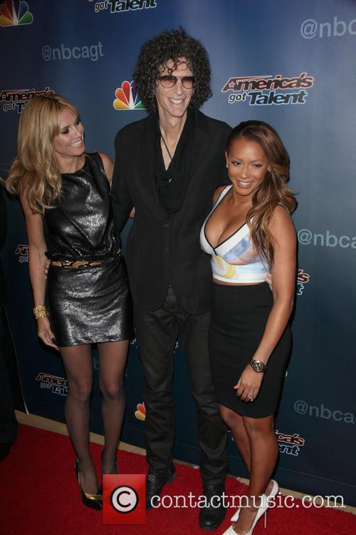 Heidi Klum, Howard Stern and Mel B