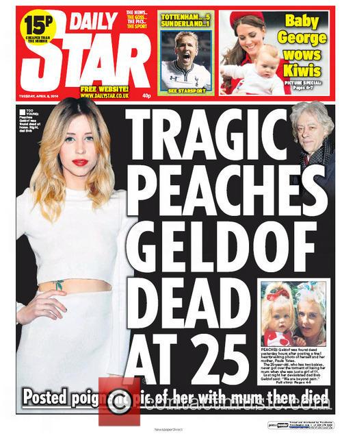 Peaches Geldof and Daily Star