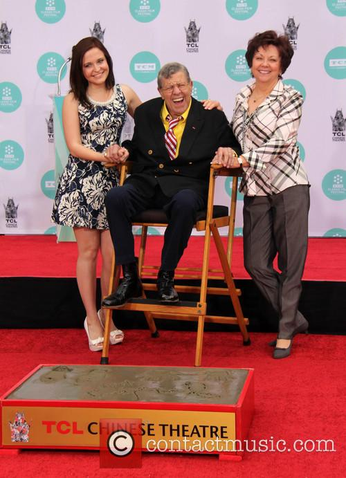 Jerry Lewis, Danielle Sarah Lewis and Sandee Pitnick