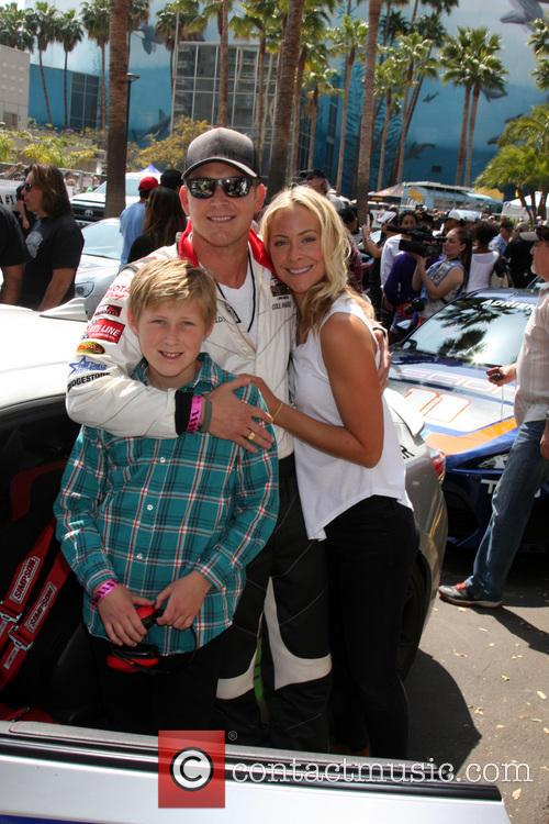 Cole Hauser, Son and Cynthia Daniel