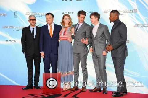 Andrew Garfield, Emma Stone, Marc Webb, Matt Tolmach, Dane Dehaan and Jamie Foxx 10