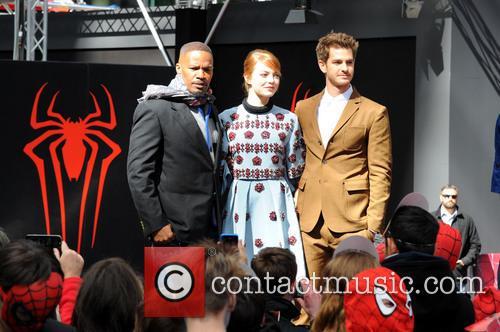 Jamie Foxx, Andrew Garfield and Emma Stone 11