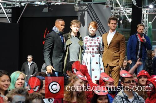 Jamie Foxx, Dane Dehaan, Andrew Garfield and Emma Stone 6