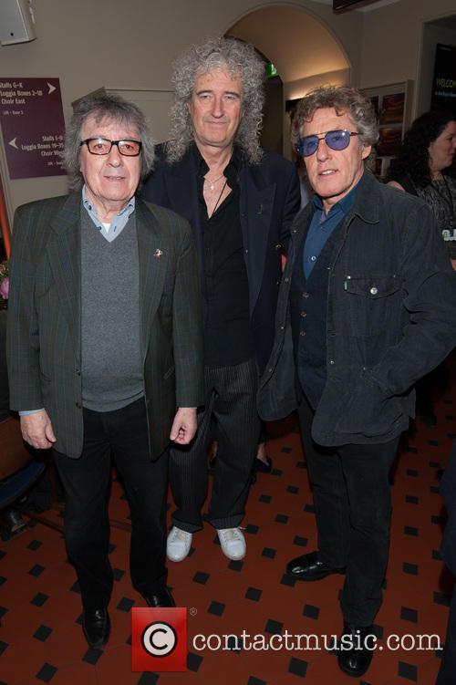 Bill Wyman, Brian May and Roger Daltrey 1