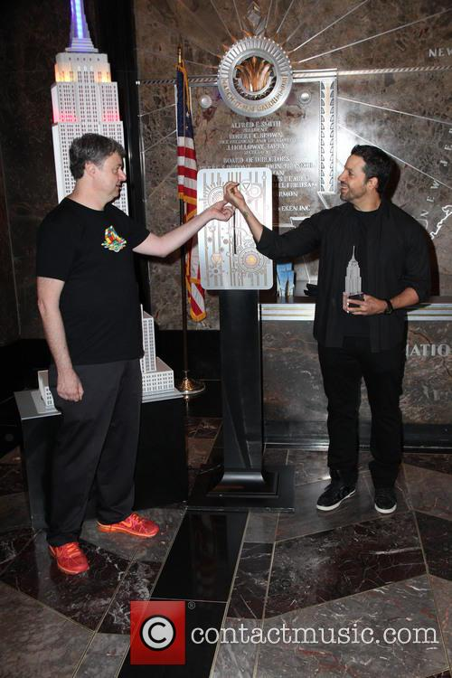 David Blaine, Rubik Visit The Empire and State Building 3