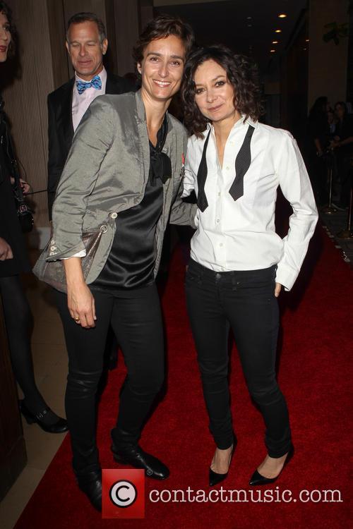 Alexandra Hedison and Sara Gilbert