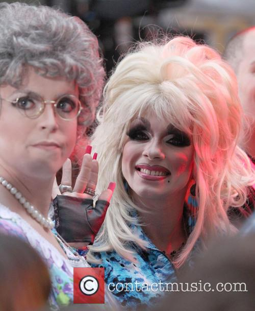 Dolly Parton and Fan In Drag 4