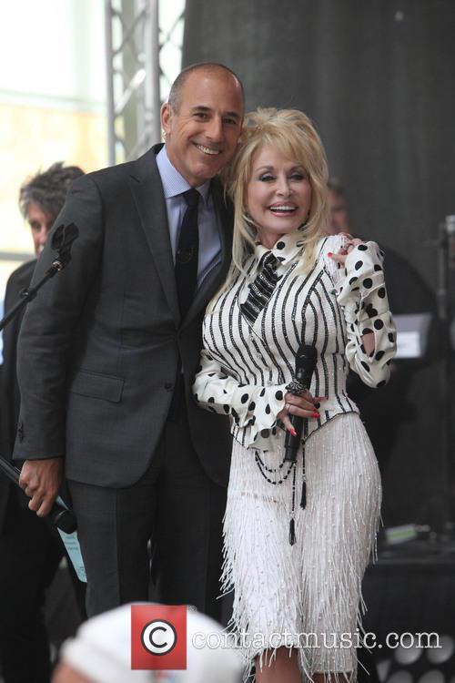 Matt Lauer and Dolly Parton 4