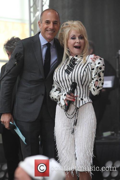 Matt Lauer and Dolly Parton 6