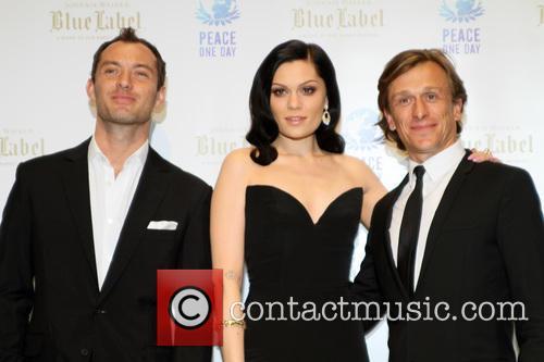 Jude Law, Jeremy Gilley and Jessie J 2